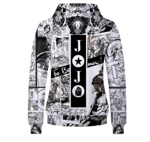Jojo/'s Bizarre Adventure Kapuzen Sweatshirt Kapuzenpulli pulli Hoodie Pullover