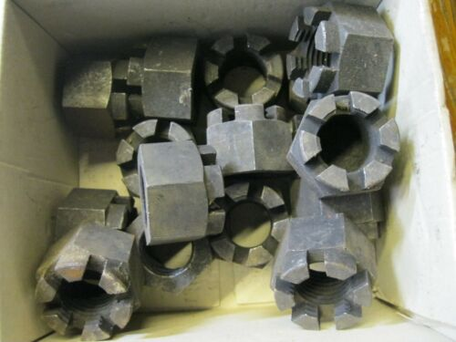 "1 2 Pkt Slotted Nuts. 1/"" BSF Steel Hex Castle"