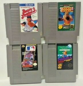 Nintendo-NES-Game-Lot-Tested-Authentic-Bases-Loaded-III-Ring-King-Pinball-MLB