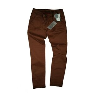 Exit-Brooklyn-Split-Damen-Chino-Comfort-Hose-super-stretch-W29-L32-Bordeaux-NEU