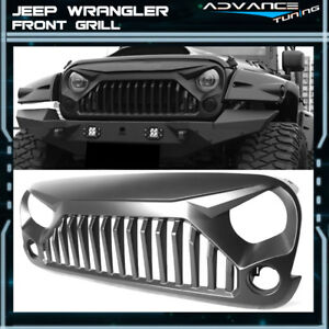 For 07-18 Wrangler JK V2 Style Topfire Angry Bird PP Front Hood Grill Grille 848524090479
