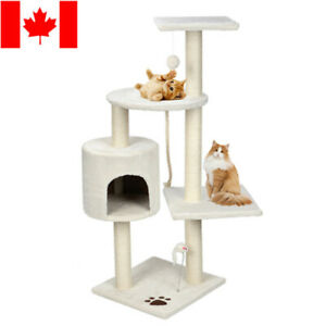 """44"""" Scratching Cat Tree Multi Level Activity Center Kitty Condo Furniture"""