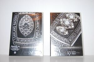 Oakland-Los-Angeles-Raiders-Super-Bowl-Champions-2-DVD-039-s-America-039-s-Game-NFL