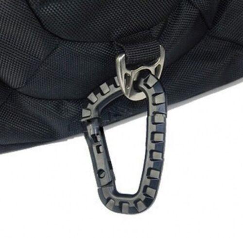 New Mountaineering Buckle Snap Clip Plastic Hook Climbing Carabiner D Shape IFA