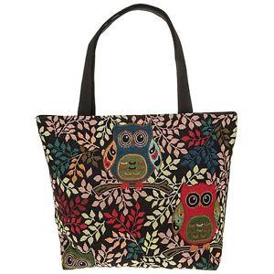Cute Owl Tapestry Tote Bag Purse Handbag Gift Purse