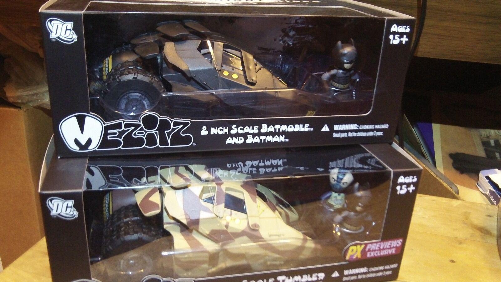 Batman Mezco Mezitz Mini Tumbler Batmobile Lote Nuevo