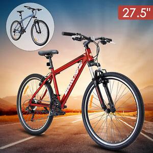 27-5-034-Men-039-s-Mountain-Bike-Shimano-Hybrid-21-Speed-Bicycle-Suspension-Sports