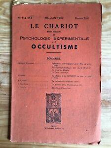 Le-Chariot-n-112-113-Mai-Juin-1940-revue-Occultisme-Astrologie-Philosophie