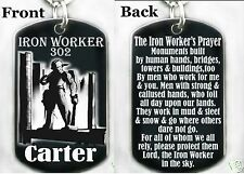 THE IRON WORKERS PRAYER - Dog tag Necklace or Key chain + FREE PERSONALIZATION