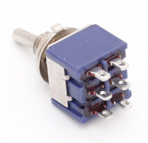 Mini Rast Kippschalter DPDT EIN-AUS-EIN AC 3A//250V 6A//125V 6-polig