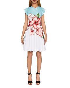 ac1672e621 NWT Ted Baker Maevea Nectar Scalloped Skater Dress Pale Green Size ...