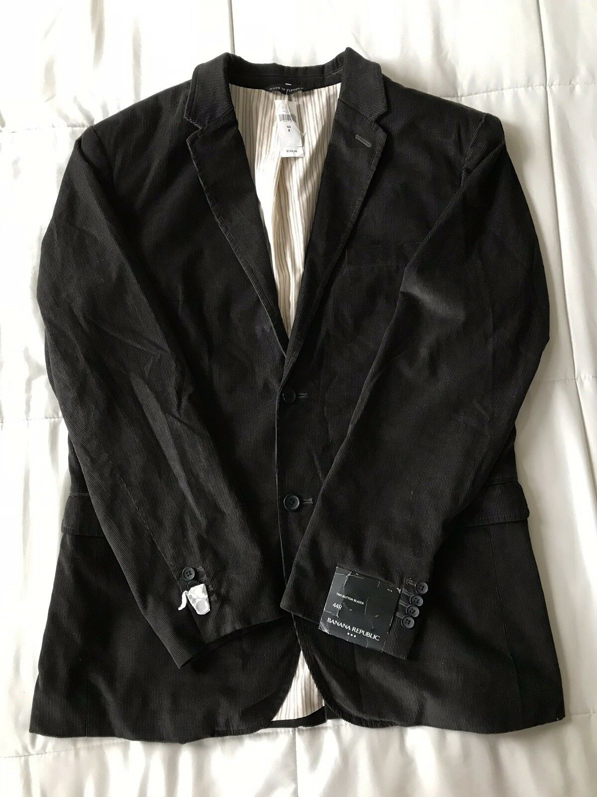 Banana Republic Braun Two-Button Corduroy Sports Coat Größe 44 MSRP 139.99