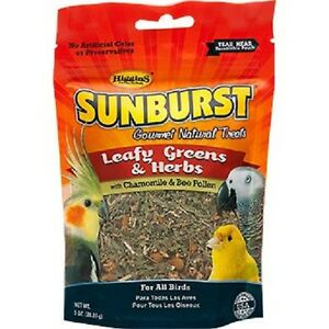 Higgins-Sunburst-LEAFY-GREENS-amp-HERBS-Natural-Bird-Treat-1-oz-MADE-IN-USA