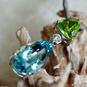 Mint-Peridot-Aquamarin-Brillant-Anhaenger-6-9-ct-AAA-750er-Gold-SW-ca-12-450-Eur