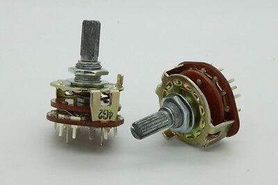 2 x Nobel 16mm A5K 5K Audio Taper Dual-Gang Potentiometer 25mm Shaft w Switch