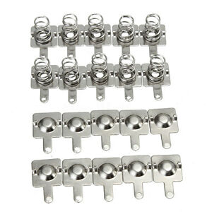 100pcs Silver Tone Metal Spring Battery Contact Plate Set