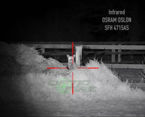 Infrarouge Opticfire ® Nano-Zoom DEL Torche pilule Insertion-rouge-vert-blanc