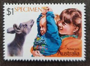 SJ-Australia-Antarctic-Territory-AAT-Kangaroo-Kid-1987-SPECIMEN-stamp-MNH