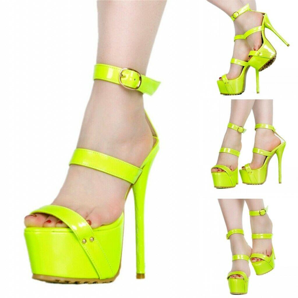 Sexy Women Sandals Open Toe Stiletto Heels FASHION shoes Clubwear EUR Size 35-47