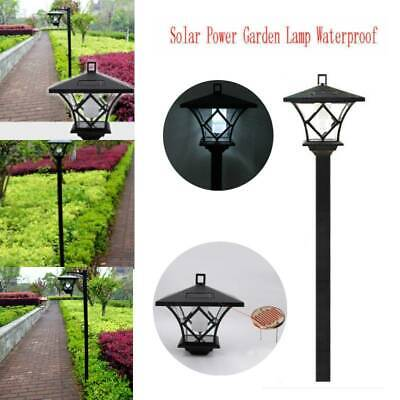 Solar Powered LED Lamp Post Light Outdoor Garden Path Lawn Landscape Decor Lamp