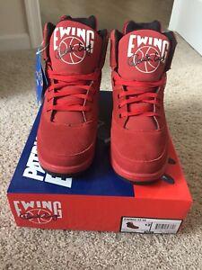 acf8c457773 Ewing Athletics 33 Hi Red Black Men s Basketball Shoes 1EW90013-601 ...