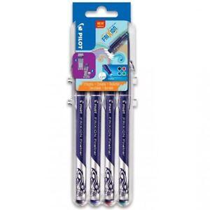 Pilot-Frixion-Fineliner-Marker-Pens-1-3mm-Evolutive-Set-4-Pack-BK-BL-R-G