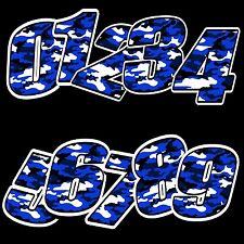 Racing Start Rally Number Vinyl Camouflage Blue Sticker Moto Gp Car Bike Atv