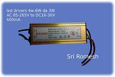 led drivers 4-6W da 3W AC 85-265V to DC12-24V 600mA