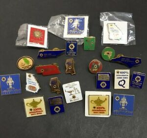 LIONS-CLUB-INTERNATIONAL-VINTAGE-23-PIN-LOT-ATTENDANCE-80-s-2000-s