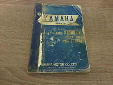 Yamaha Parts List Ersatzteilkatalog XT500 ´78 Type 1U6 Explosionszeichnung