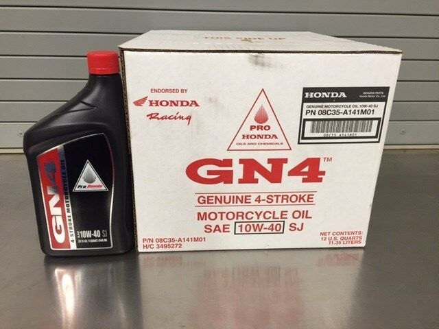 new genuine honda gn4 sae 10w40 motorcycle oil 1 case of 12 1 qt