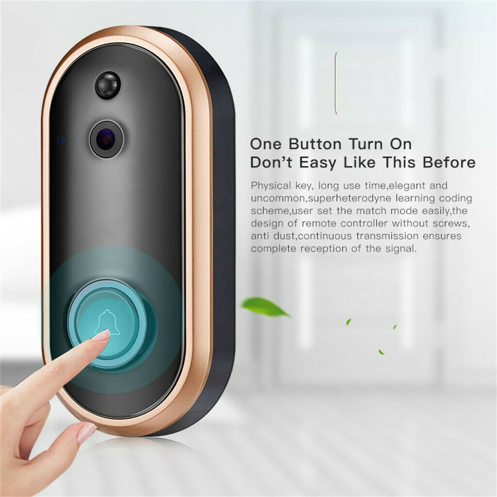 1080P Smart WIFI Security Doorbell Wireless Video Phone Camera Night Vision
