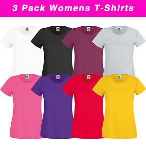 Image Is Loading 3 Pack Of Women 039 S Plain Fruit