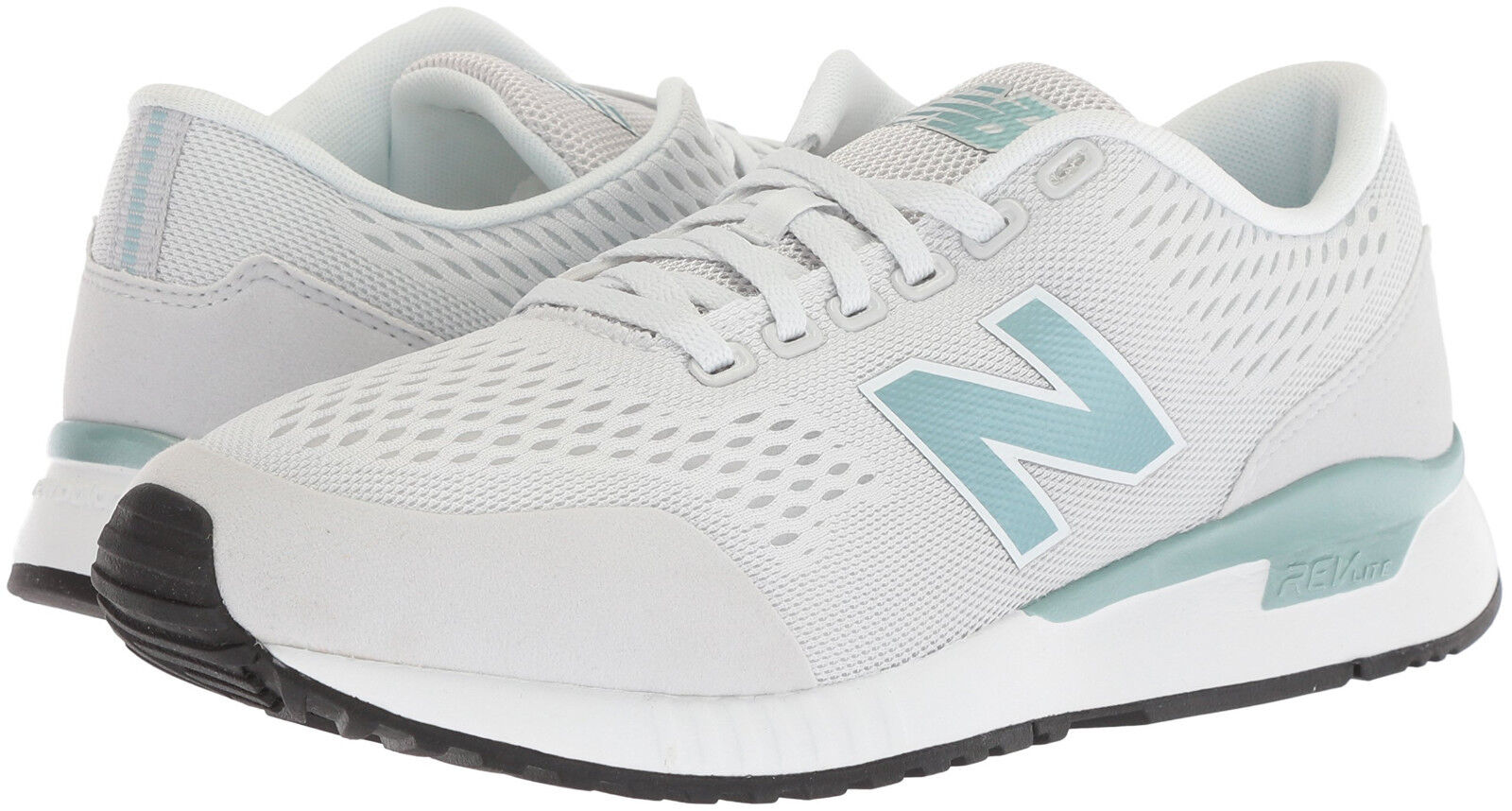Damens New Balance WL005PM Sneaker Schuhes Medium (B) Pale Grau 100% Original New