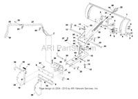 Mtd 190-822-101 Snow Blade 822 46 Inch Dozer Blade 46 Tractor Rider Attachment