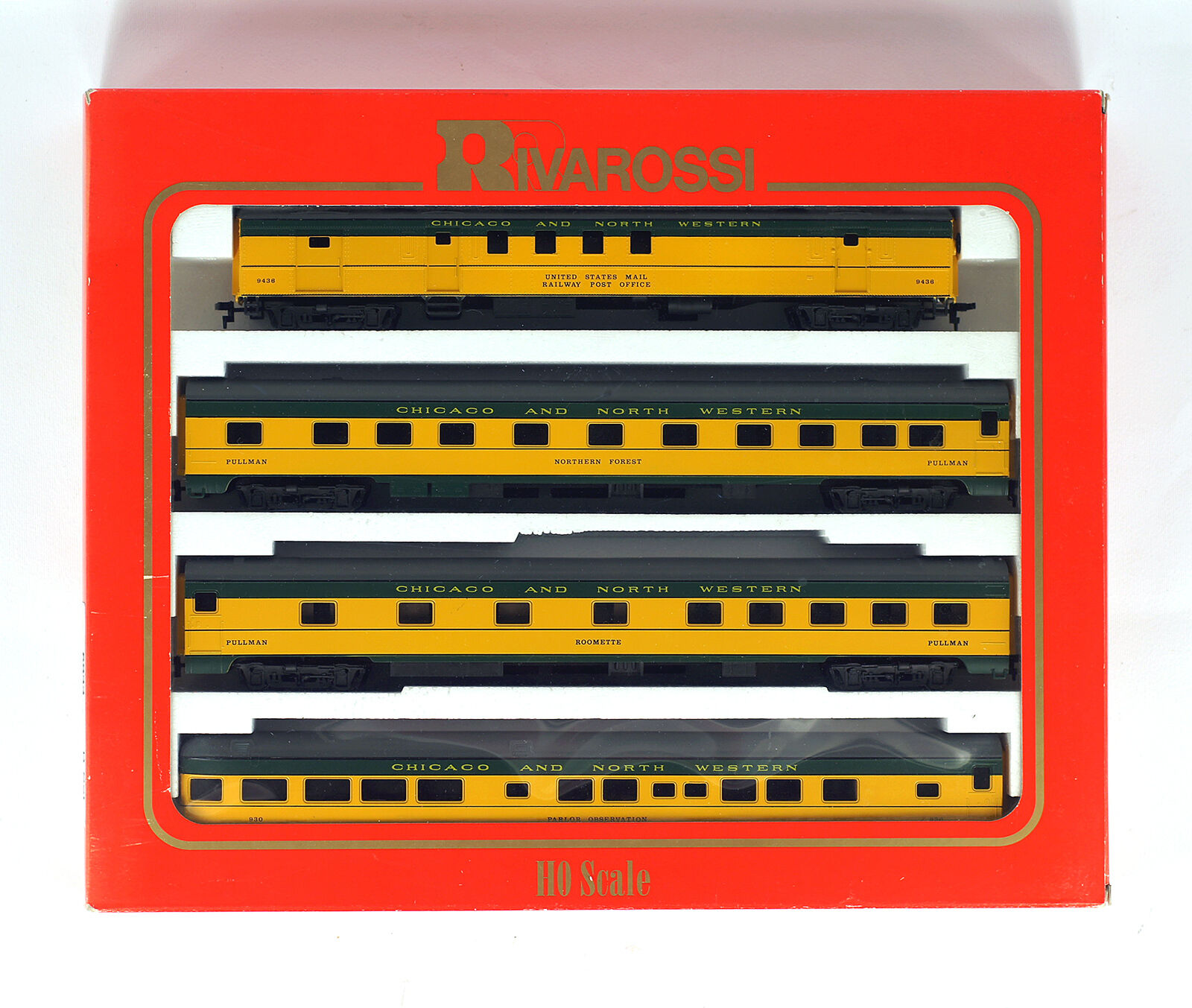 Rivarossi 6933 HO H0 B Set ANNI 1930 CH & NW RPO cuccettaduplex. SleeperTail AUTO