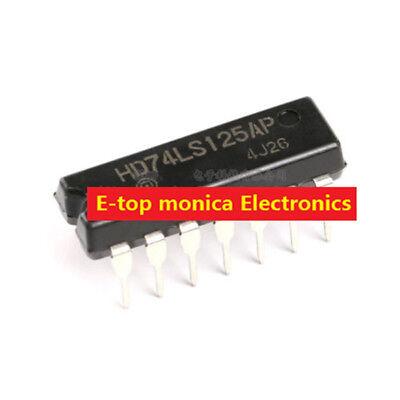 10pcs Original HD74LS125AP logic chip bus buffer 4-way tri-state DIP-14