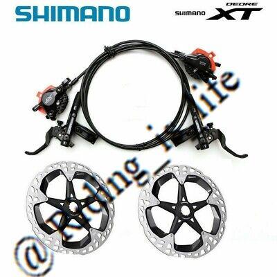 RT86 Rotors A  Pair New Shimano XT M8100 MTB Disc Brake Set Front/&Rear MT800