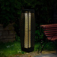 Outsunny Rattan Lamp Solar LED Powered Effect Wicker Patio Outdoor Balcony Light