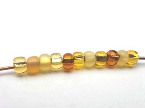 50g Kaden Rocailles Seed beads multi Colour amarillo oro plata sangría 4 mm 5//0