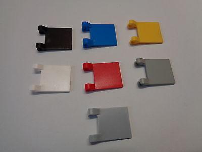 choose color LEGO Accessoire Drapeau Clapet Plaque Lisse 2x2 Flag 2335