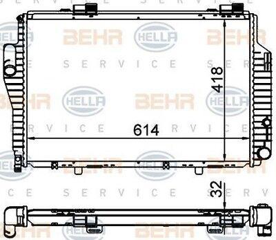 refrigeraci/ón del motor BEHR HELLA SERVICE 8MK 376 759-051  Radiador