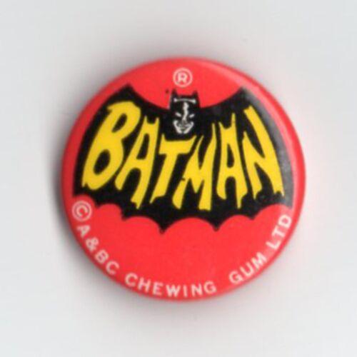 Wasserfall Logo Vintage 1960s Jahre A/&bc Kaugummi Batman Dose Anstecker
