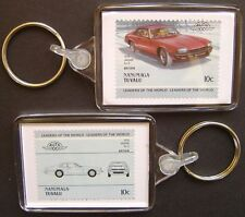1976 JAGUAR XJS / XJ-S Car Stamp Keyring (Auto 100 Automobile)