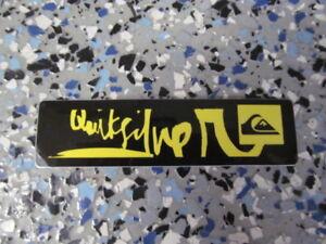 Quicksilver Yellow Logo With Black Background 4 X 1 Surf Sticker Ebay