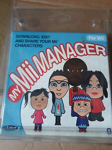 Details about NINTENDO Wii MY MII MANAGER PACK - download edit and share  your Mii