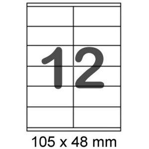 100 Bögen Etiketten Stampit 4457 105 X 48 mm weiß
