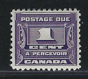 1934 Canada Scott #J11 - 1¢ Postage Due Stamp - MH