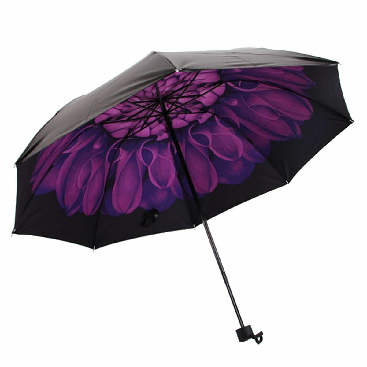 windproof waterproof compact folding floral flowers umbrella parasol anti uv sun ebay. Black Bedroom Furniture Sets. Home Design Ideas