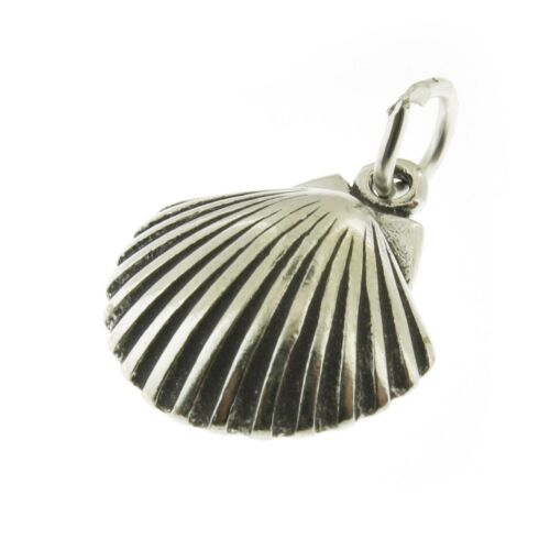 925 Sterling Silver Shell Scallop Charm Made in USA